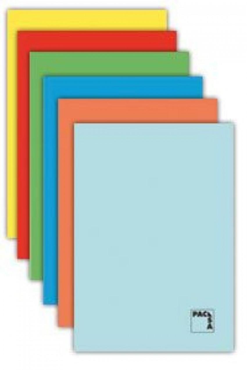 48h 70g Paq//10 libreta a5 pauta 3.5 c//m tapa gofrada colores surtidos pacsa