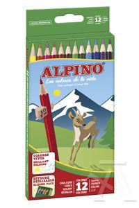 Estuche 12 lapices colores alpino surtidos