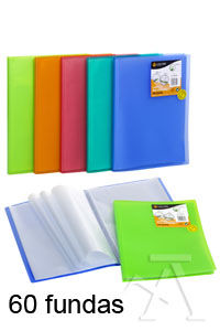 CARPETA 60 FUNDAS A4 TAPA FLEXIBLE VERDE CLARO