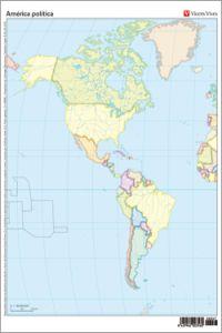 Mapa America Politico Mudo.America Politica Completa Mapa Mudo Color Libreria Canseco