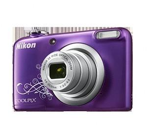 Cámara Digital Nikon COOLPIX A10 VIOLETA ARTE+FUNDA