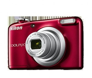 Cámara Digital Nikon COOLPIX A10 ROJA+FUNDA