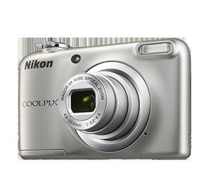 Cámara Digital Nikon COOLPIX A10 PLATA+FUNDA