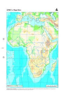 Paq 50 Mapas Africa Fisico Mudos Llibreria Sarri