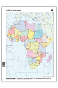 Africa Mapa Politico Mudo.Paq 50 Mapas Africa Politico Mudos Libreria Miranda Bueu