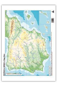 Mapa Mudo De España Fisico.Paq 50 Mapas Espana Fisico Mudos Libreria Fleming