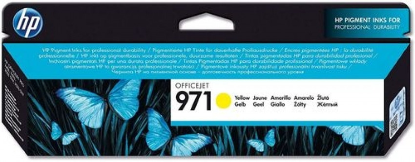 CARTUCHO TINTA ORIGINAL HP 971 AMARILLO CN624AE