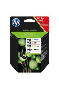 PACK 4 CARTUCHO TINTA ORIGINAL HP 950XL/951XL CMYK C2P43AE
