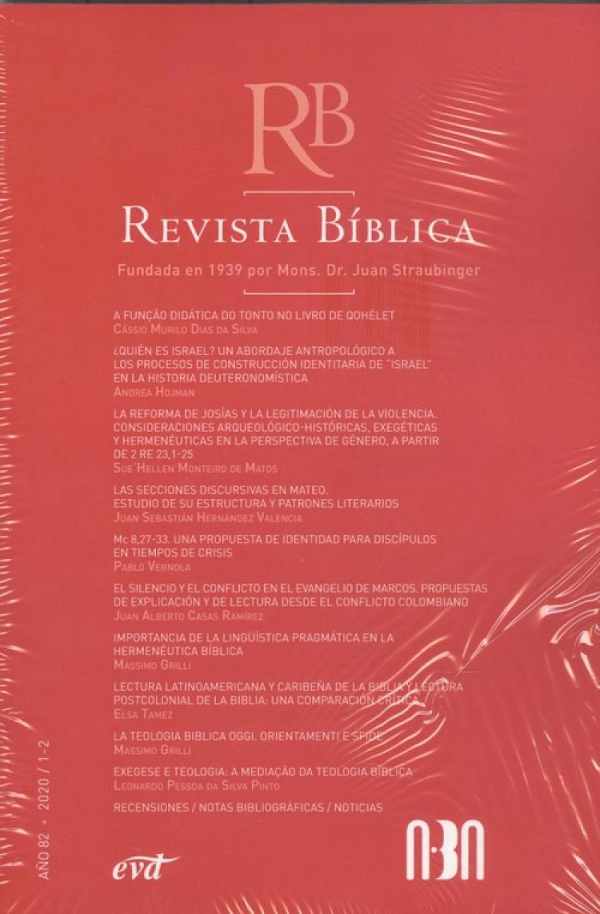 REVISTA BÍBLICA. AÑO 82