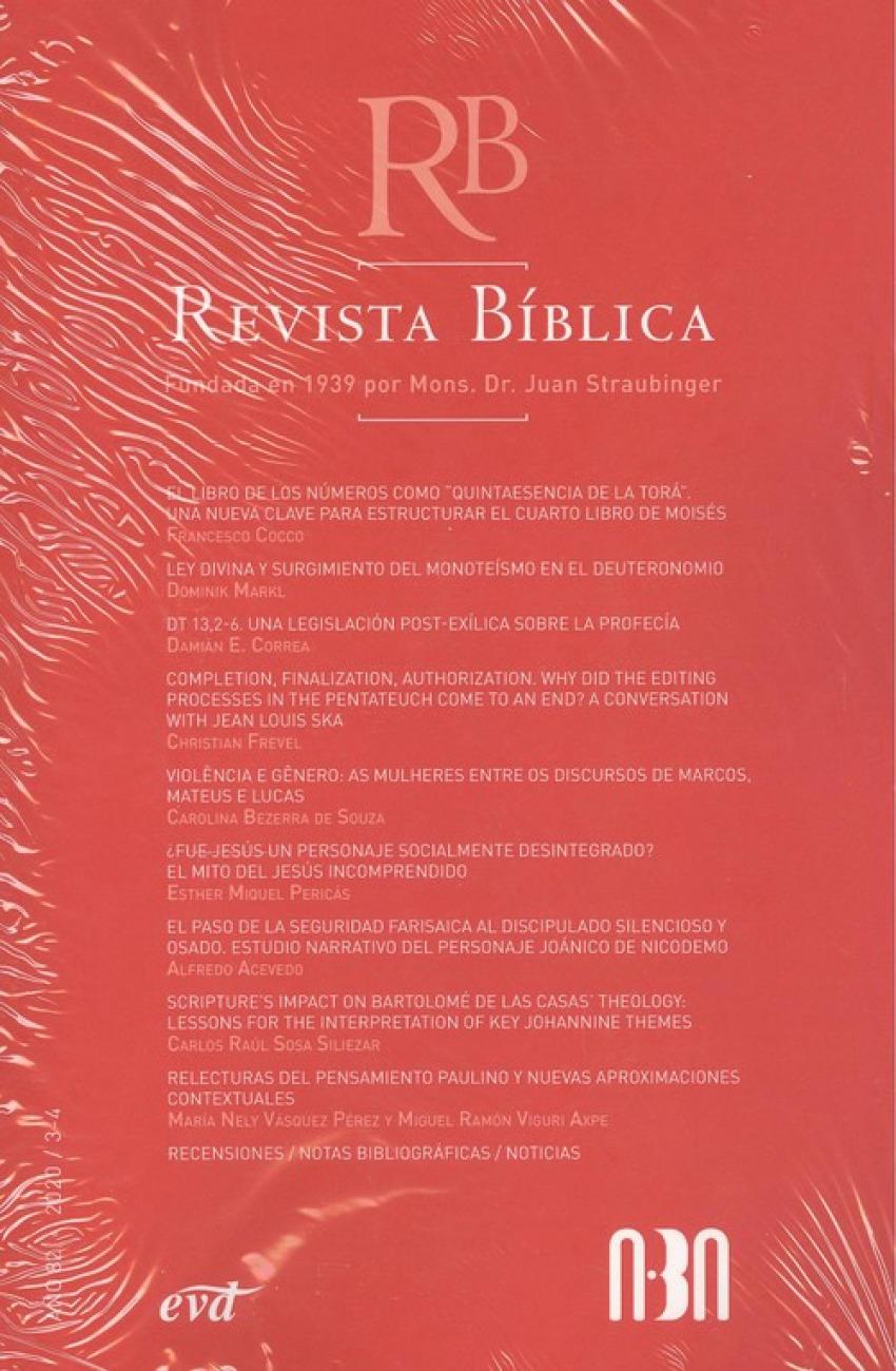 Revista biblica año 82/2020