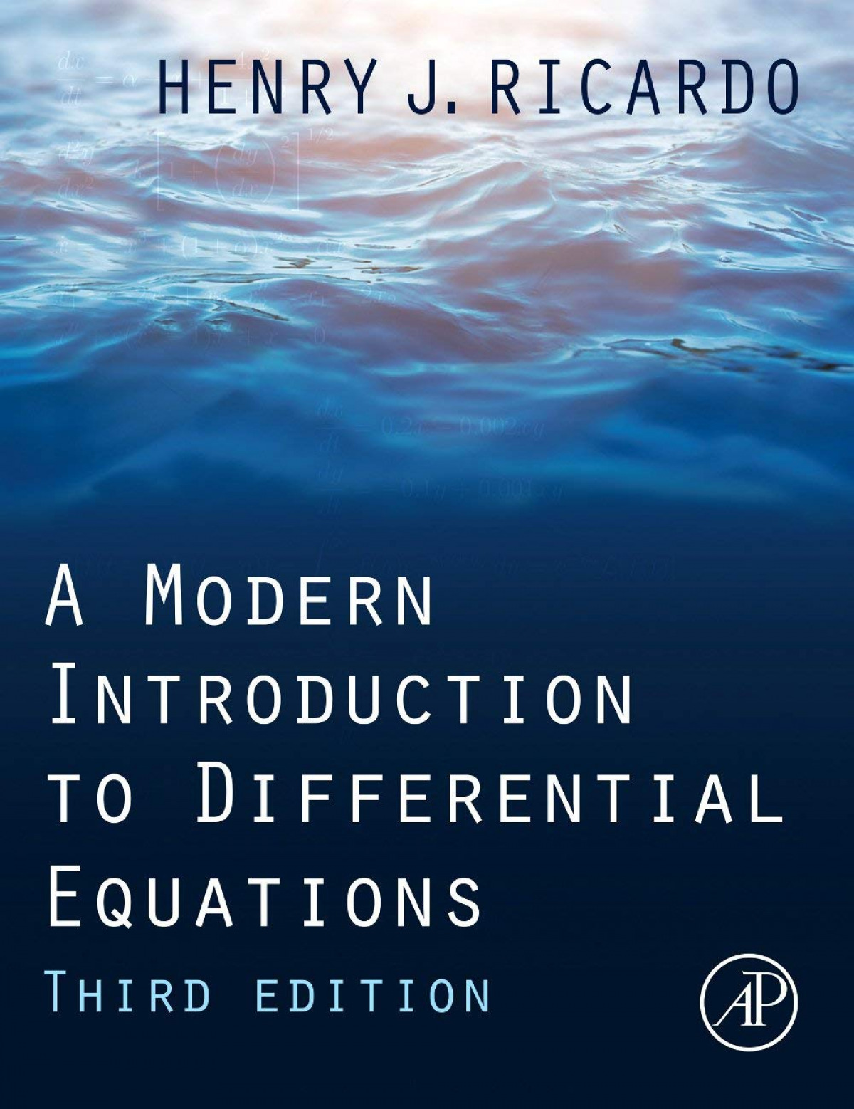 A MODERN INTRODUCTION TO DIFFERENTIAL EQUATIONS 3R.EDITION