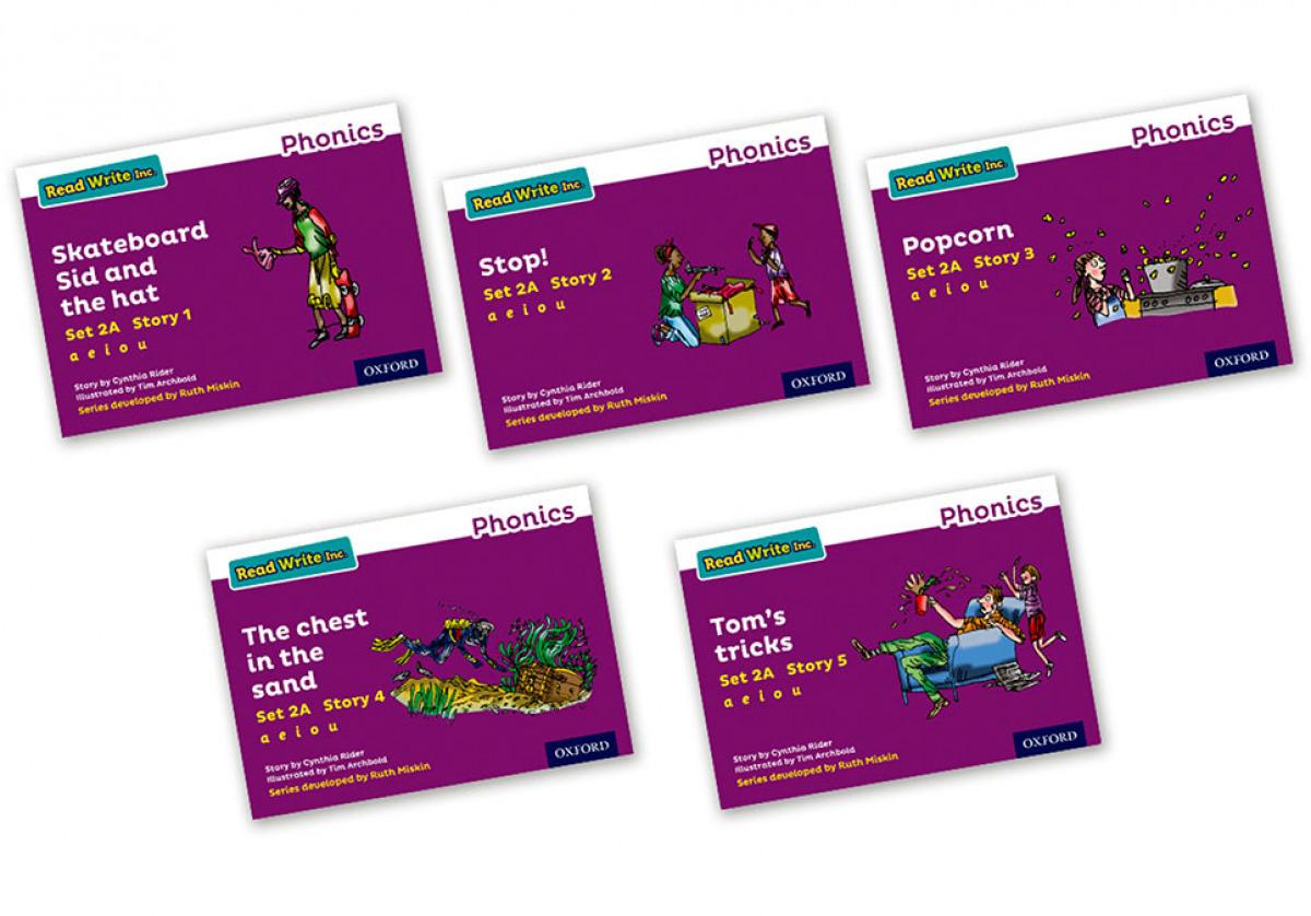 Read Write Inc - Phonics Set 2A Purple Story Books - Colour Pack of 5