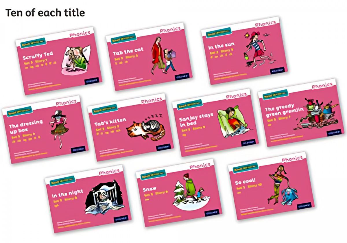 RWI PINK SET 3 STORYBOOKS PK 100