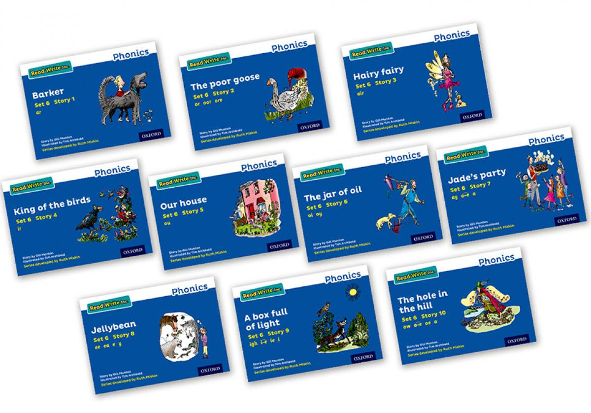 Read Write Inc - Phonics Set 6 Blue Story Books - Colour Pack of 10