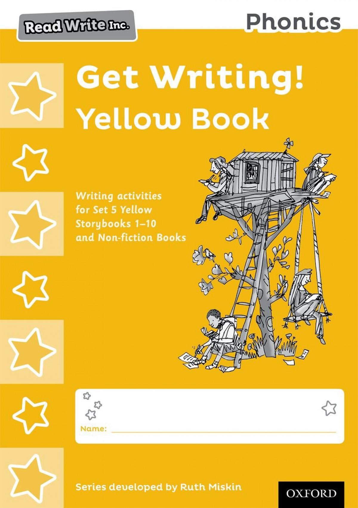 PACK 10 RED WRITE INC.PHONICS:GET WRITING YELLOW BOOK