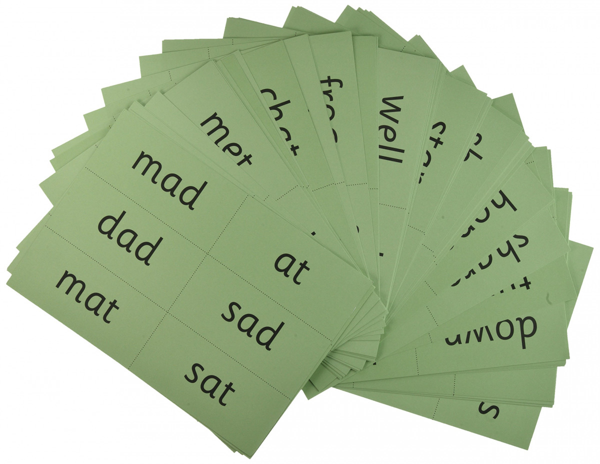 (PACK 10).READ WRITE INC.PHONICS GREEN WORD CARDS