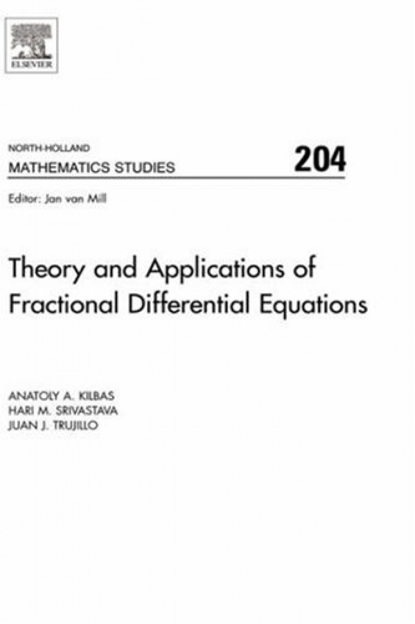 THEORY APPLICATIONS OF FRACTIONAL DIFFERENTIAL VOL.204