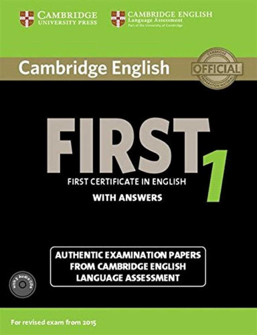 Cambridge english first 1 revised exam (sb+key+audio cd)