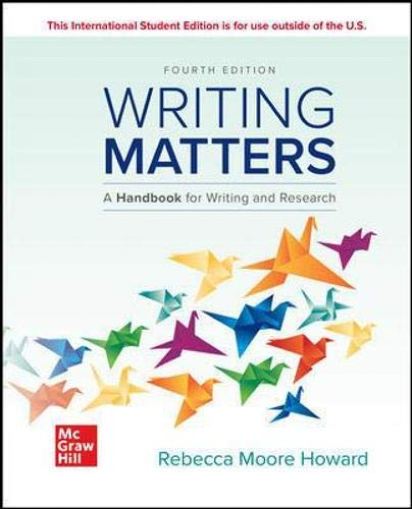 Writint matters:handbook writing and research;comprehensive