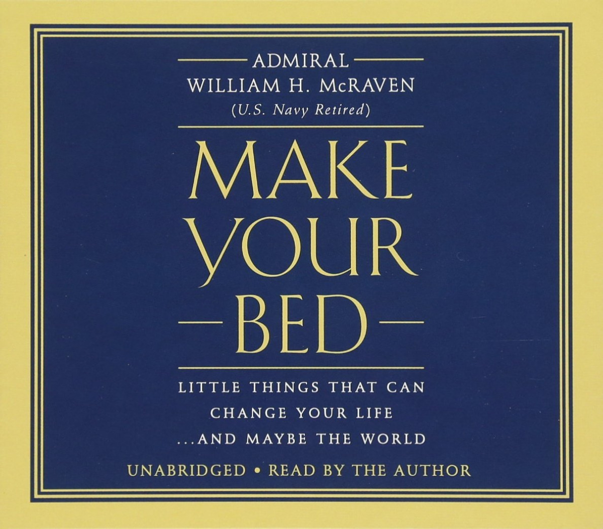 Make your bed:little things that