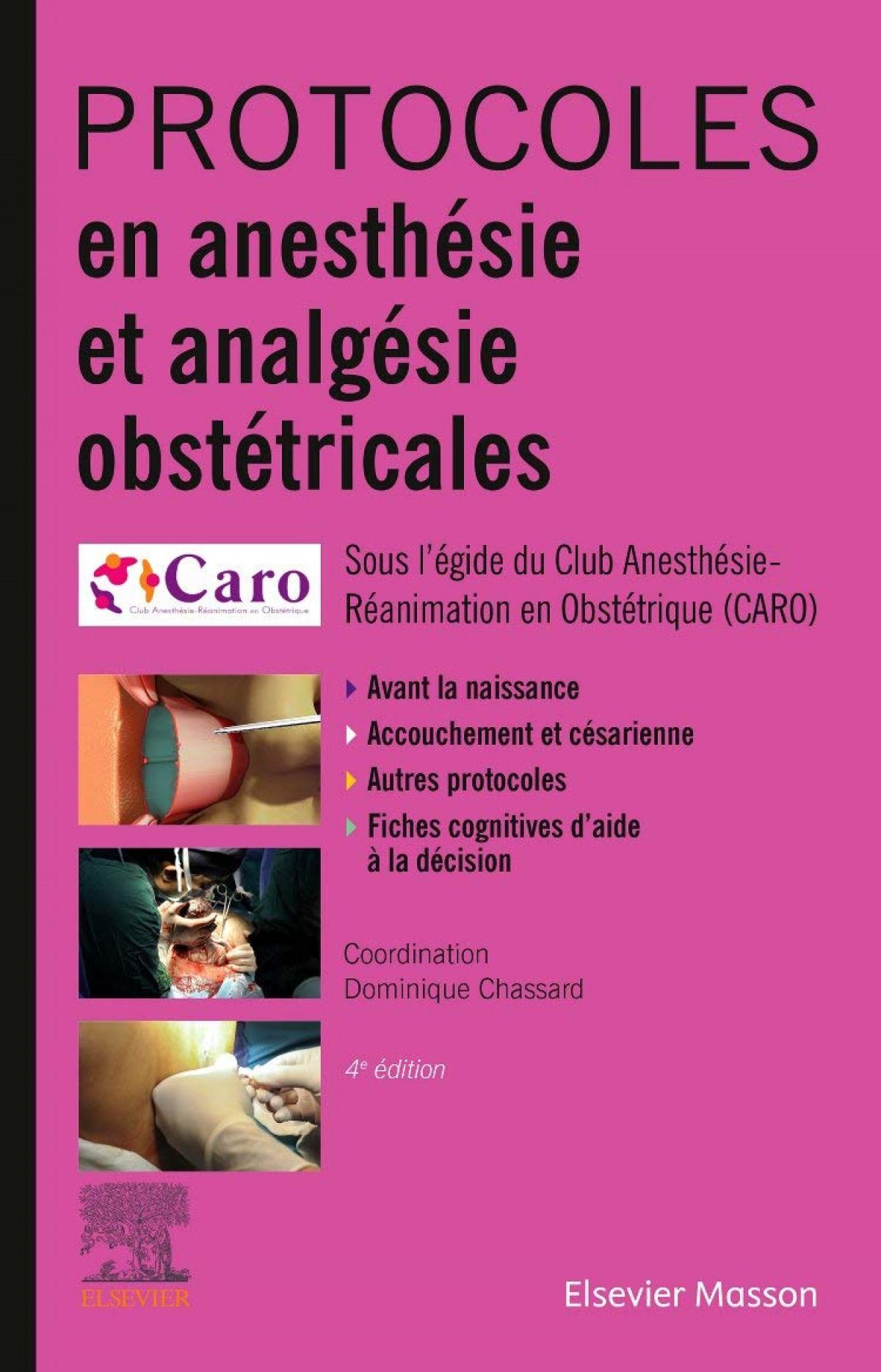 protocoles en anesthesie et analgesie obstetriciales