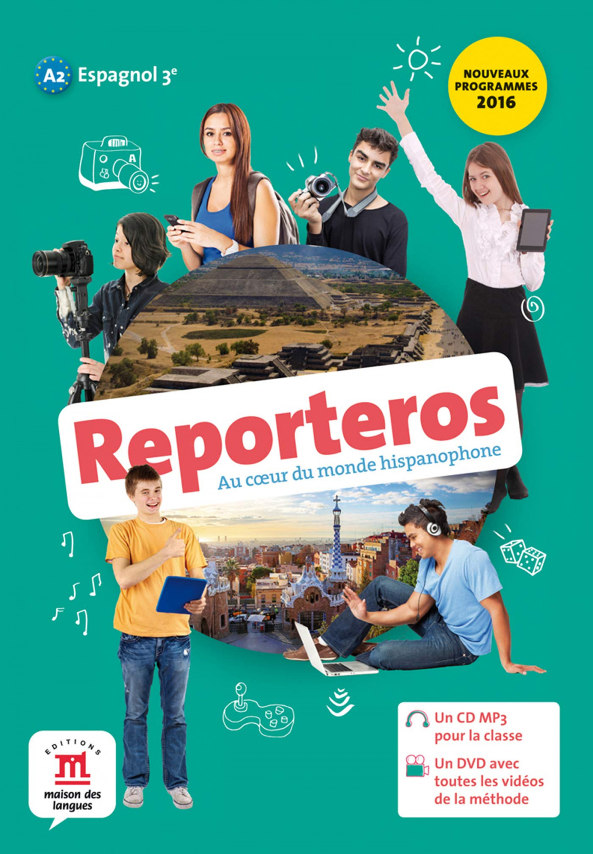(16).reporteros 3e.(a2).(cd+mp3+dvd)