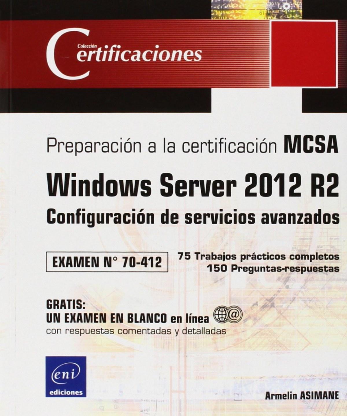 Certificaciones Windows Server 2012 R2 Examen 70 412 Libreria Fersi