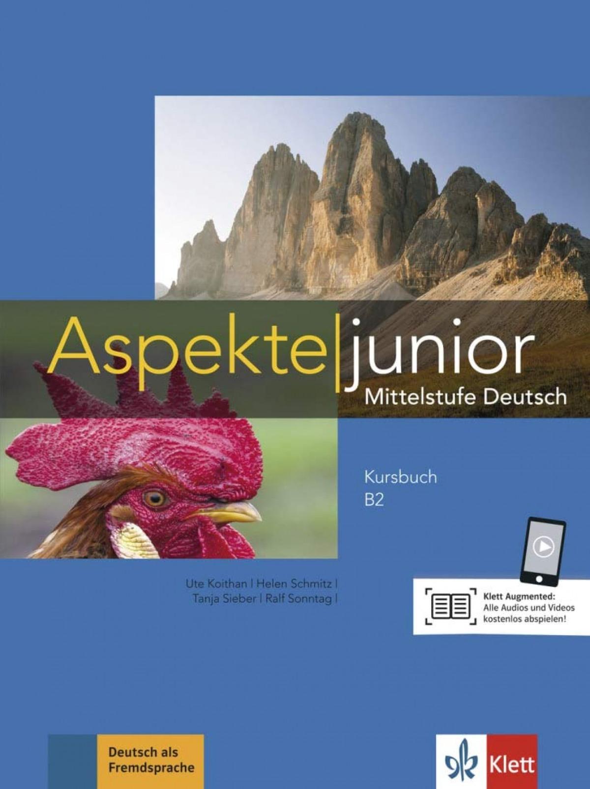 Aspekte junior b2, libro del alumno con video y audio online