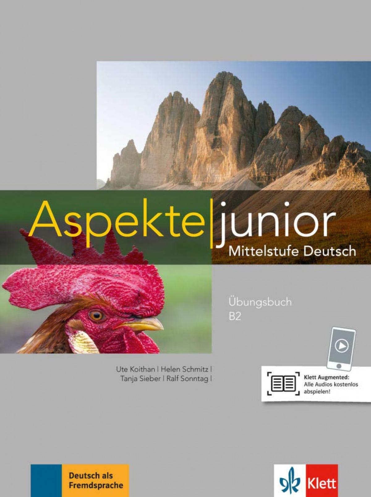 Aspekte junior b2, libro de ejercicios con audio online