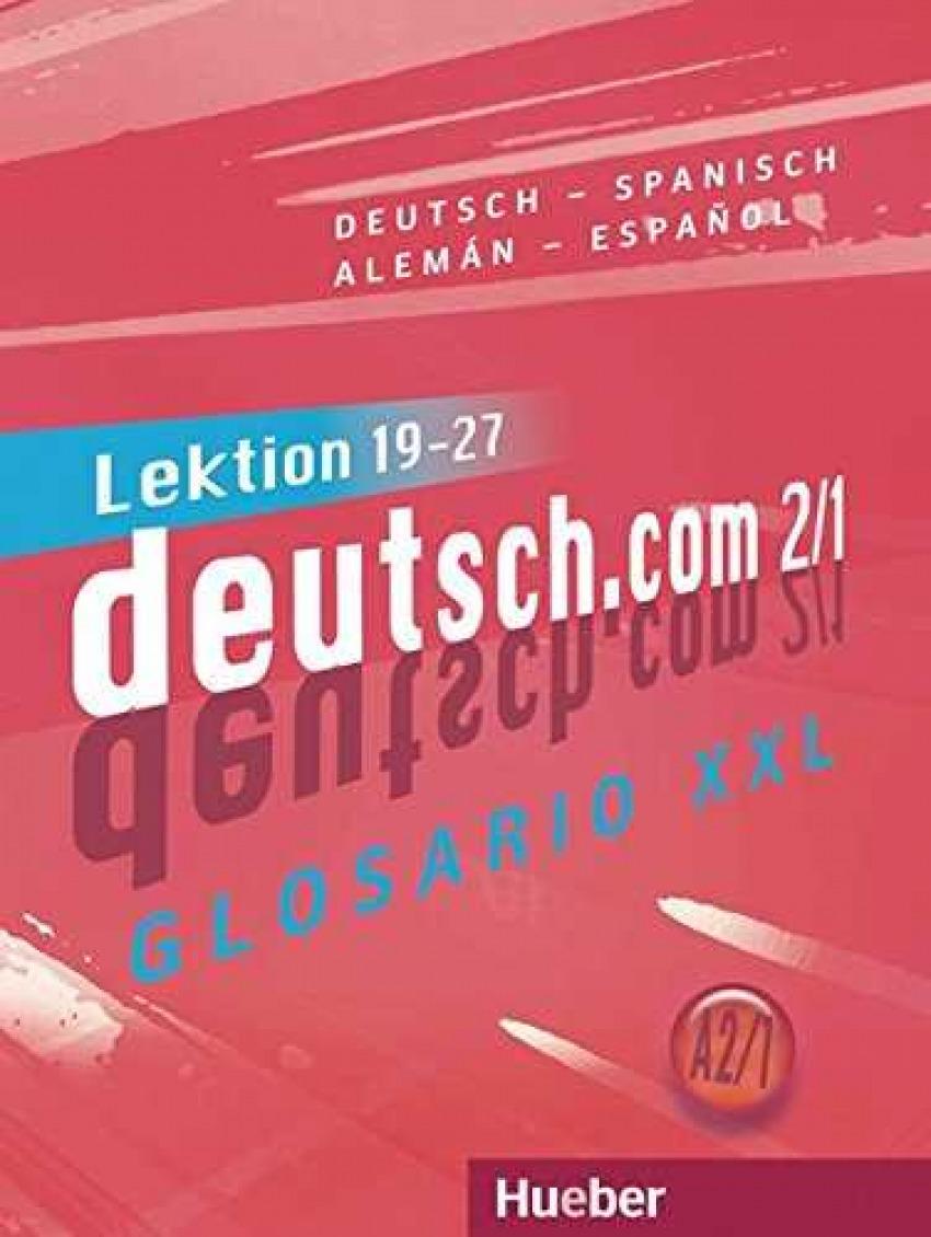 Deutsch.com A2.1. glosario XXL