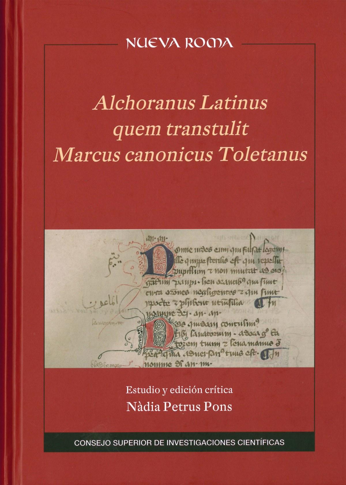 ALCHORANUS LATINUS TRANSTULIT MARCUS CANONICUS TOLETANUS