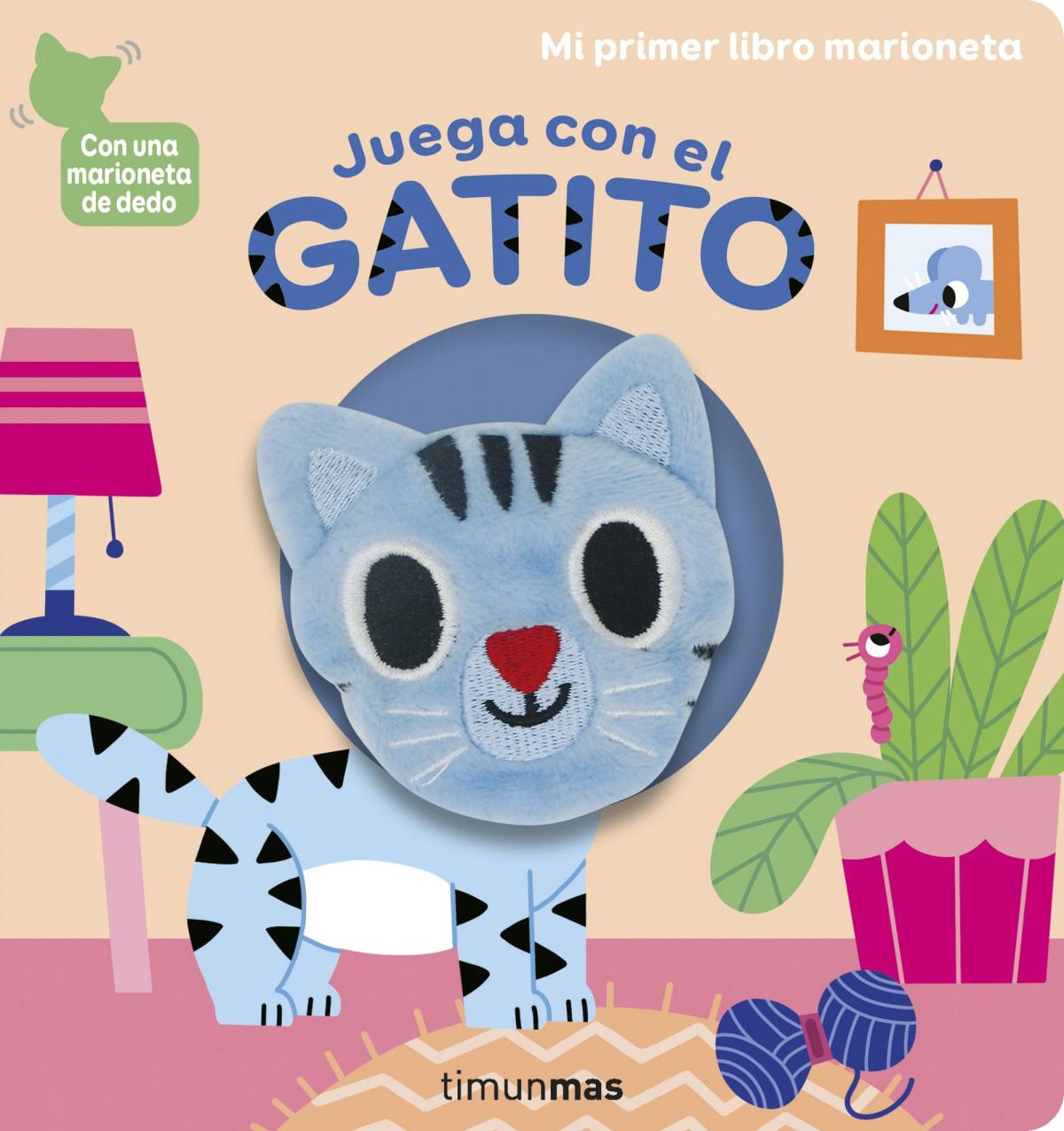 Juega con el gatito. Libro marioneta