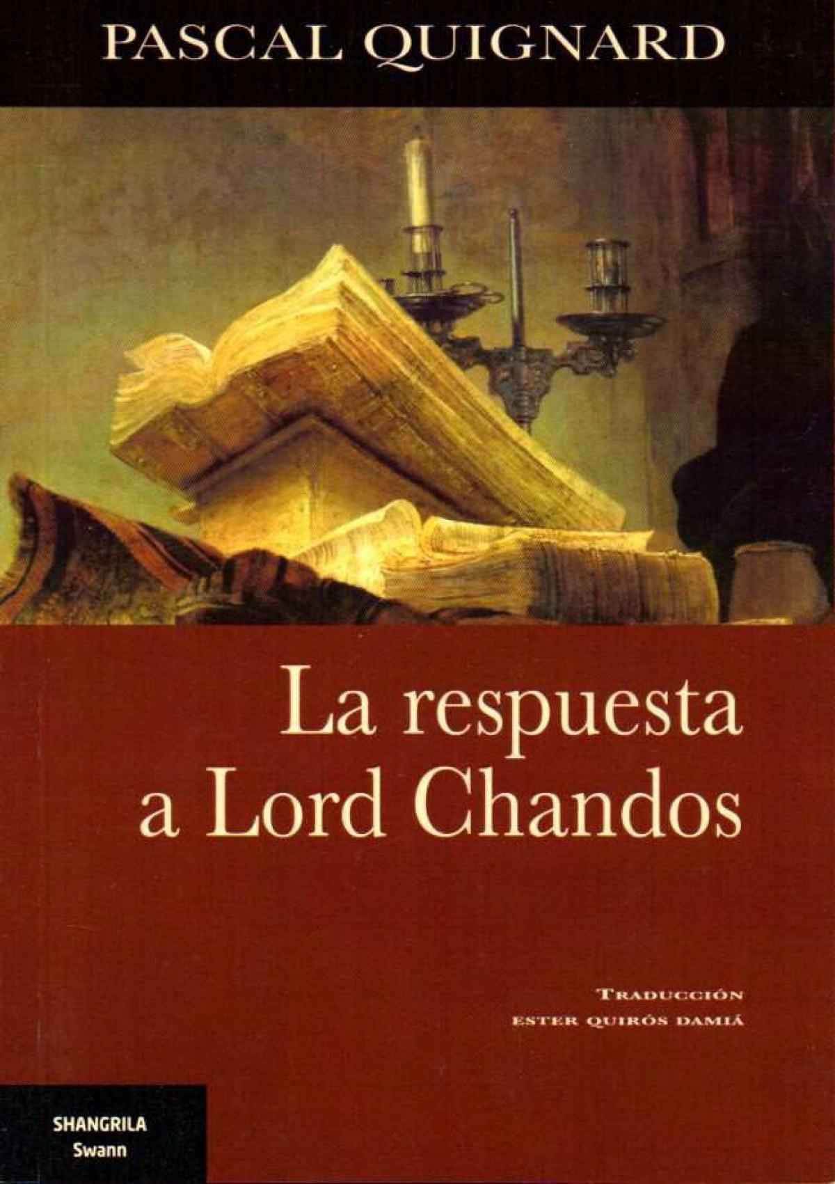 La respuesta a Lord Chandos