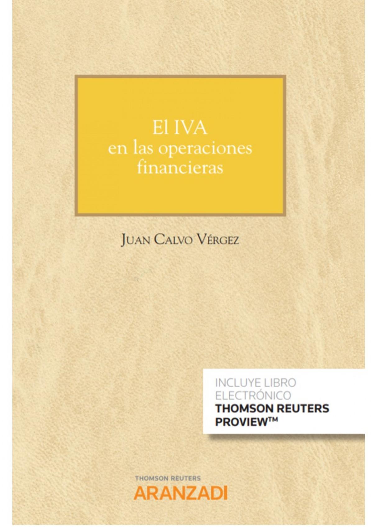 El IVA en las operaciones financieras (Papel + e-book)