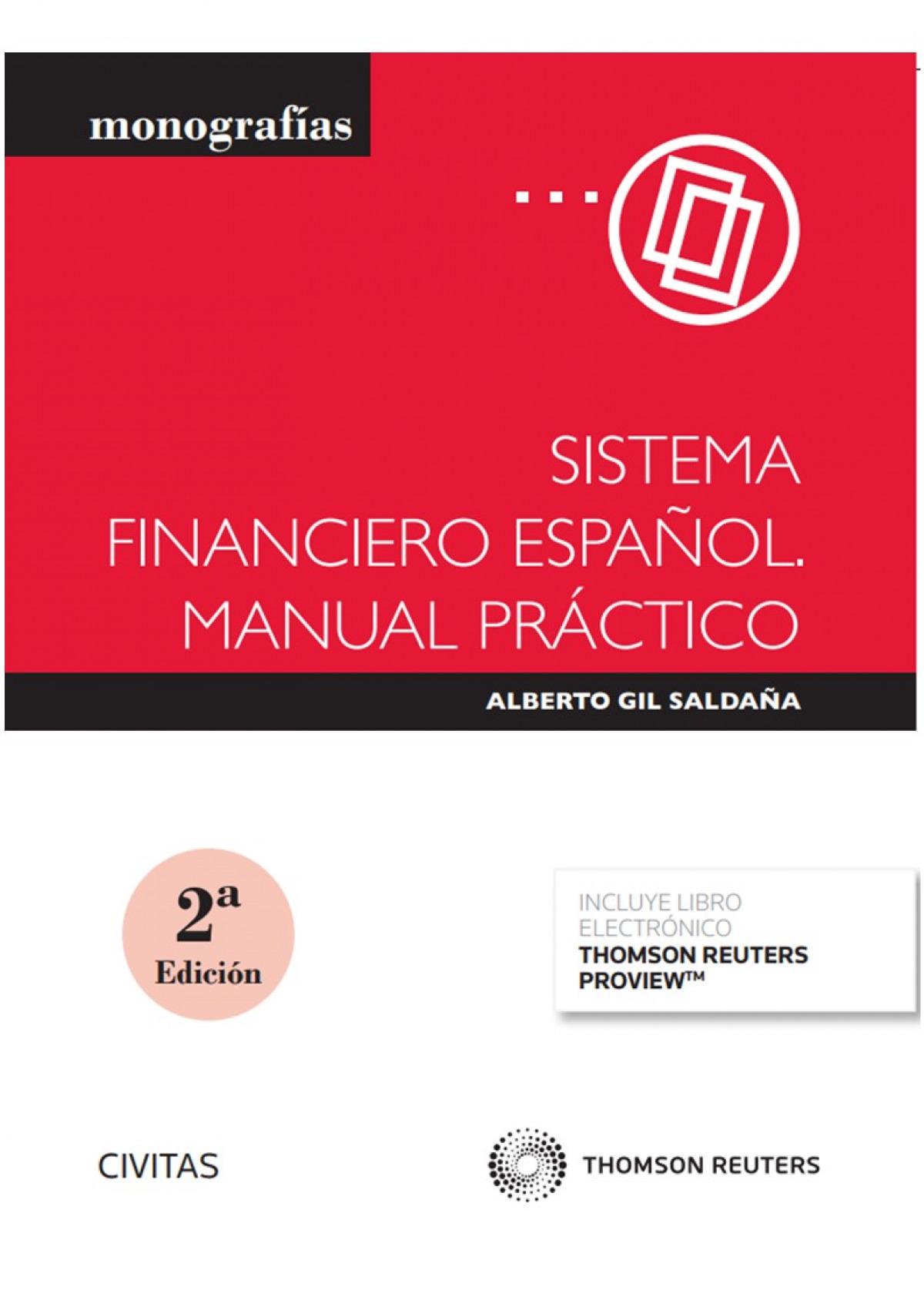 Sistema financiero español. Manual práctico (Papel + e-book)