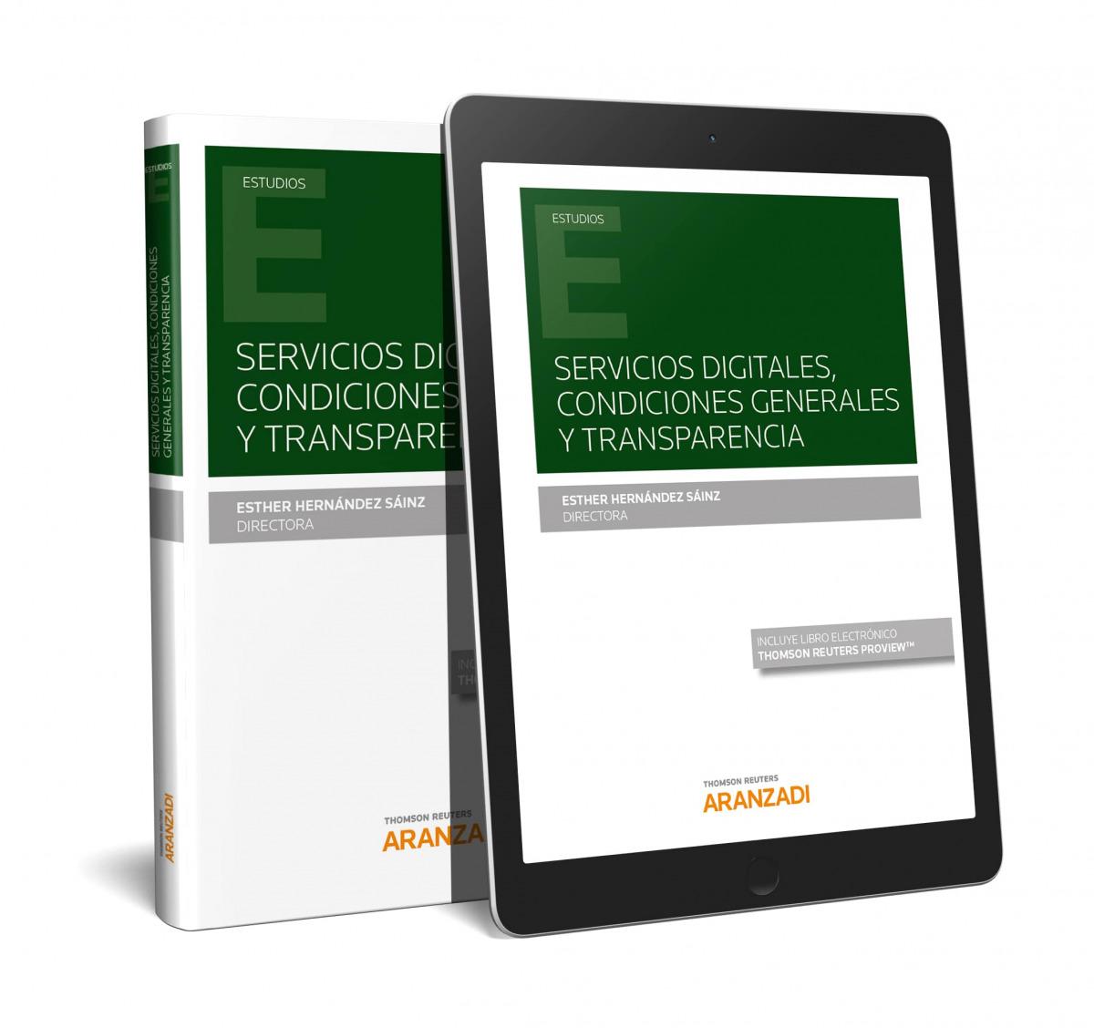 Servicios digitales, condiciones generales y transparencia (Papel + e-book)