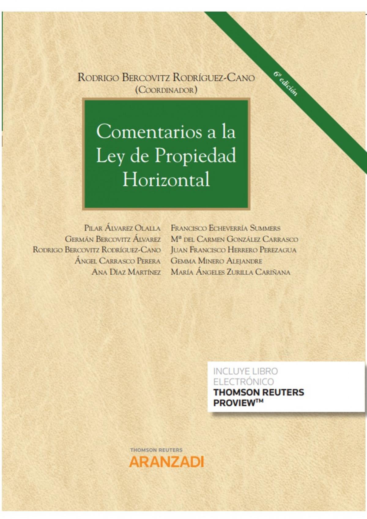 Comentarios a la Ley de Propiedad Horizontal (Papel + e-book)