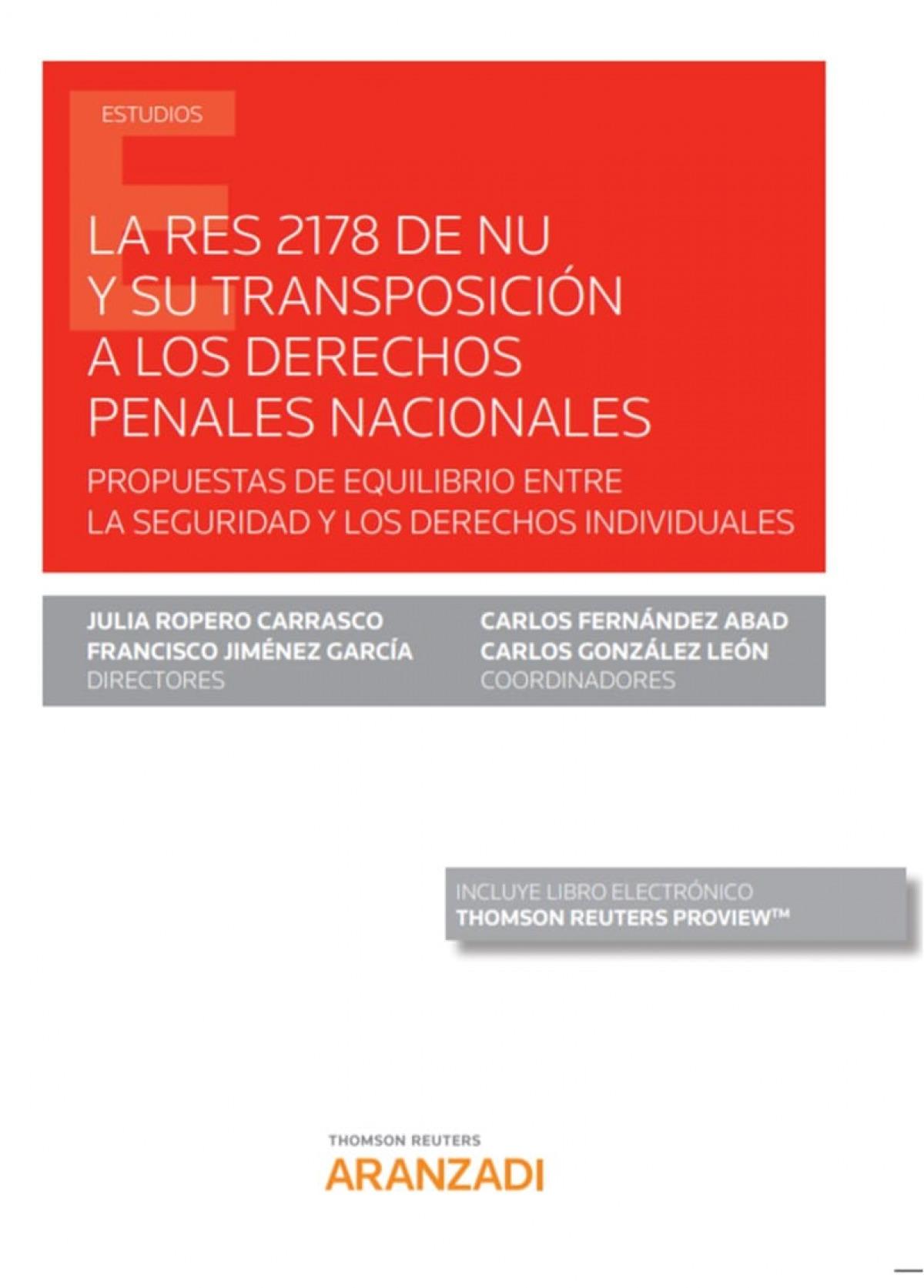 RES 2178 de NU y su transposición a los derechos penales nacional