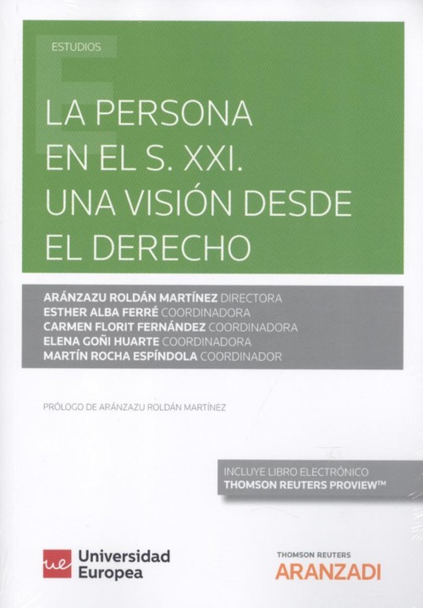 LA PERSONA EN EL S.XXI. UNA VISIÓN DESDE EL DERECHO (DÚO)