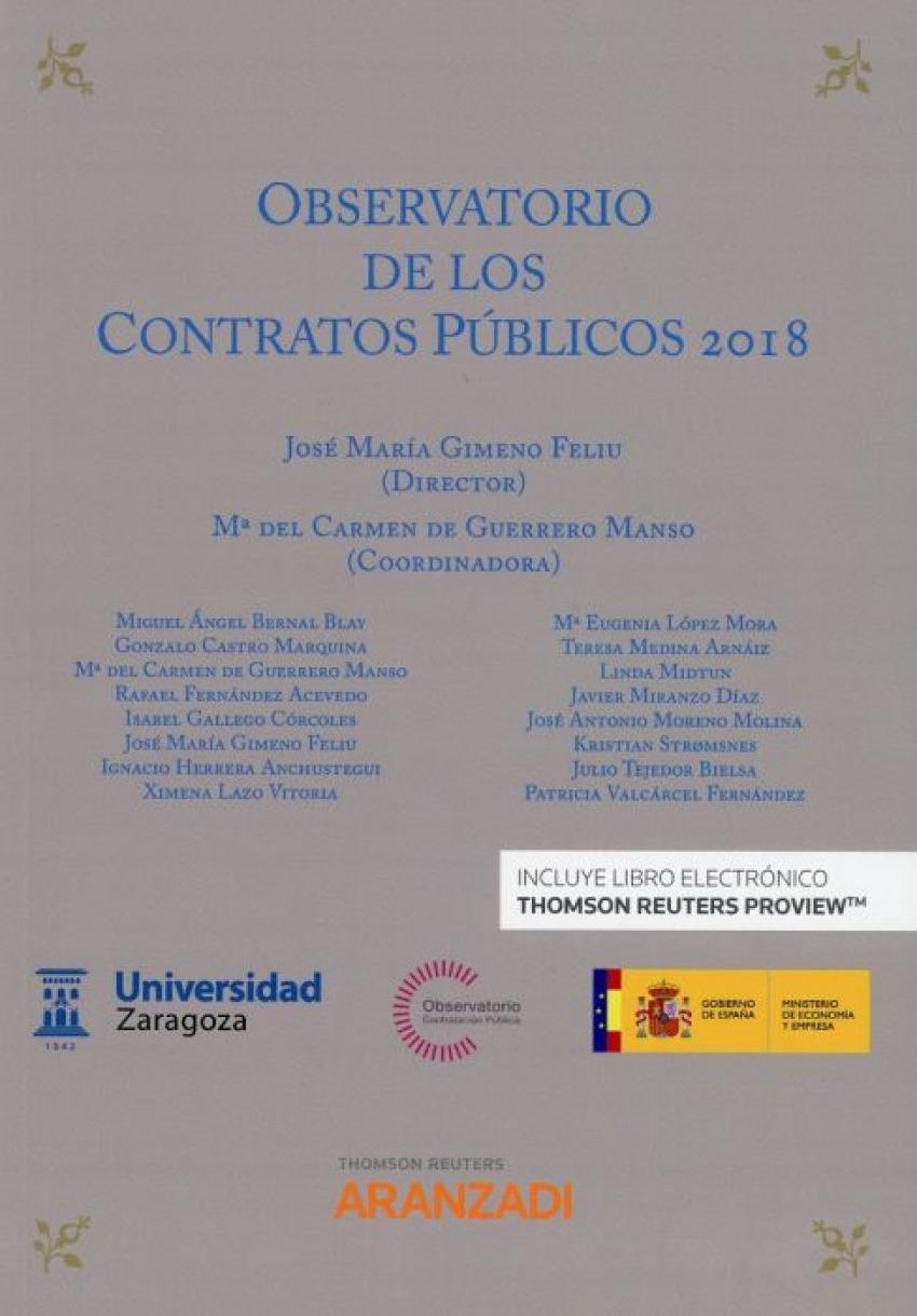 CONTRATACIÓN DE LOS CONTRATOS PÚBLICOS 2018