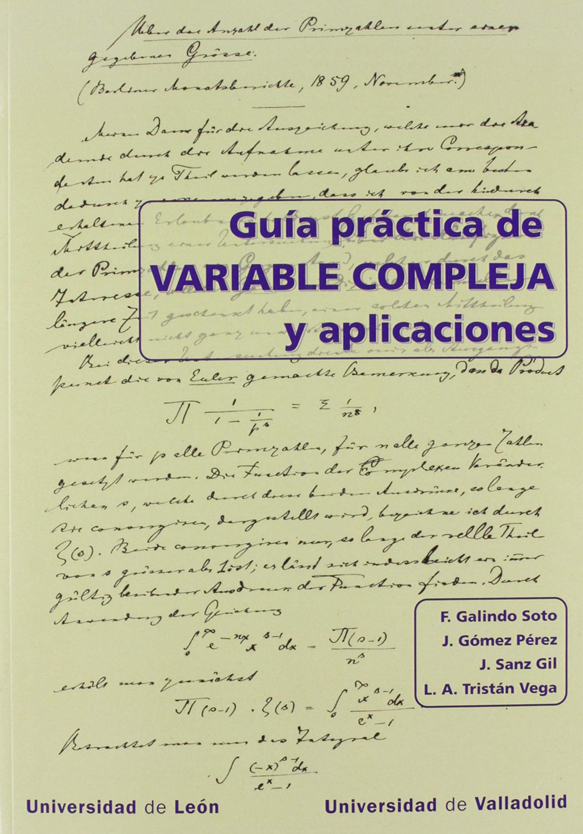 GUÍA PRACTICA DE VARIBALE COMPLEJA Y APLICACIONES