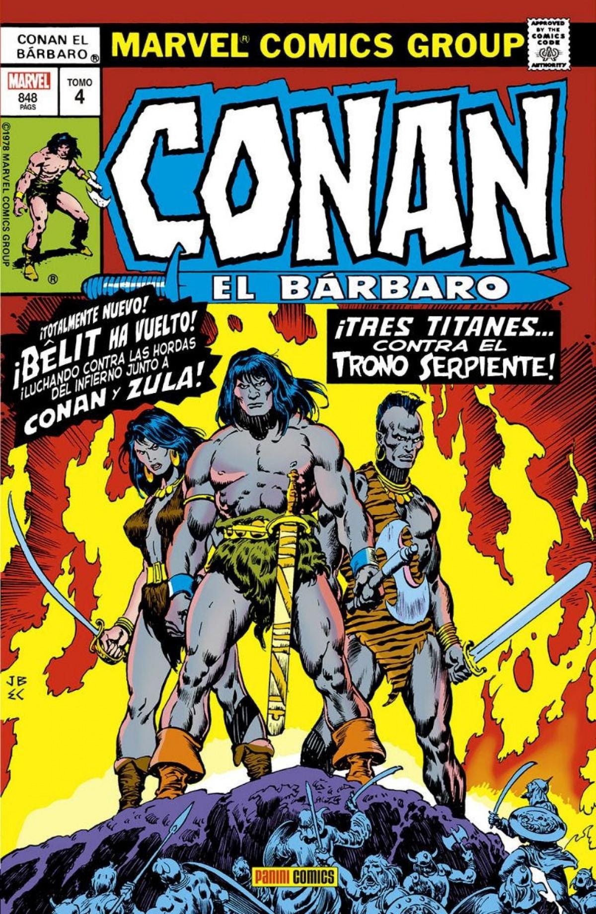 Marvel gold omnibus conan el bárbaro. la etapa marvel original 4