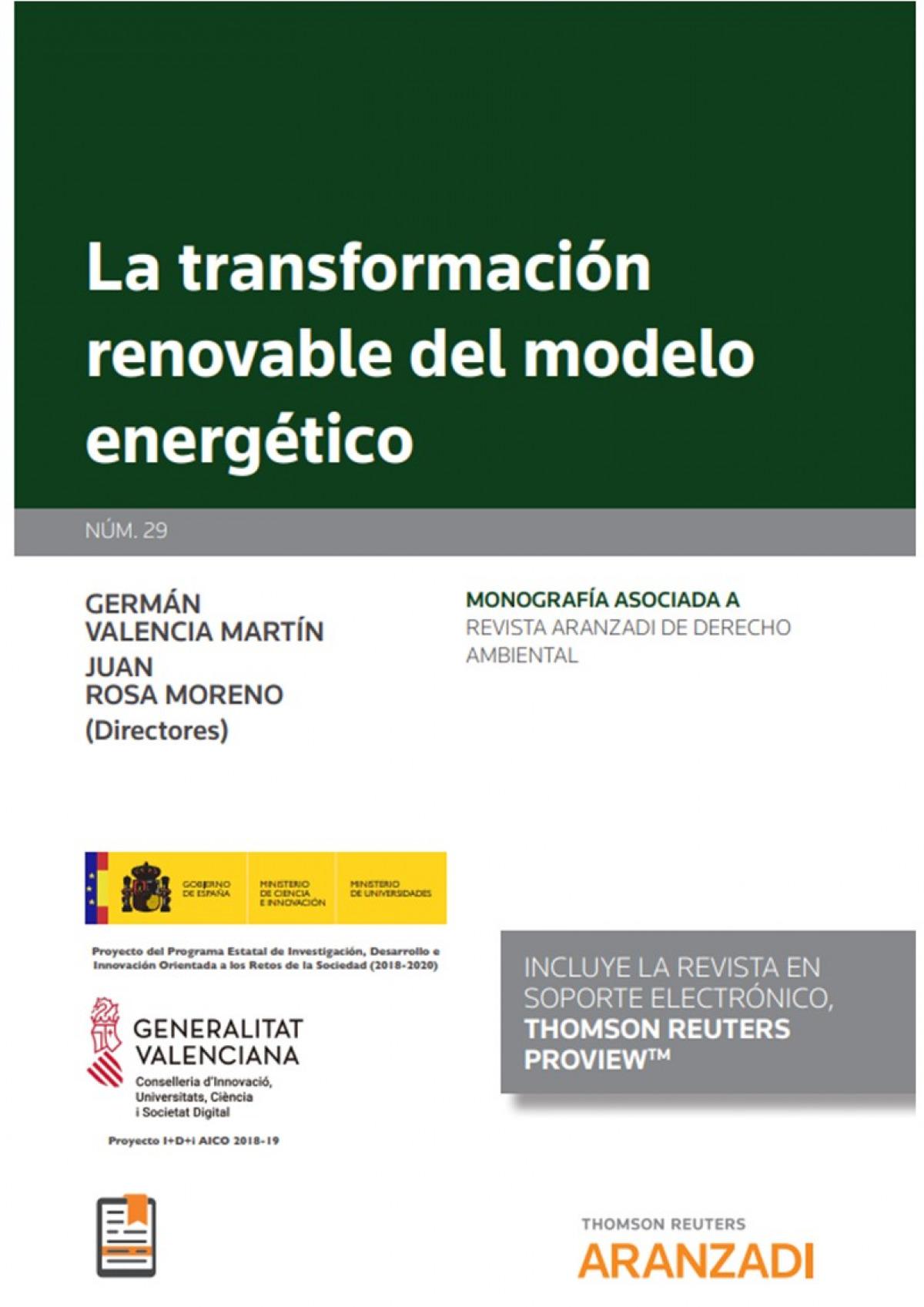 La transformación renovable del modelo energético (Papel + e-book
