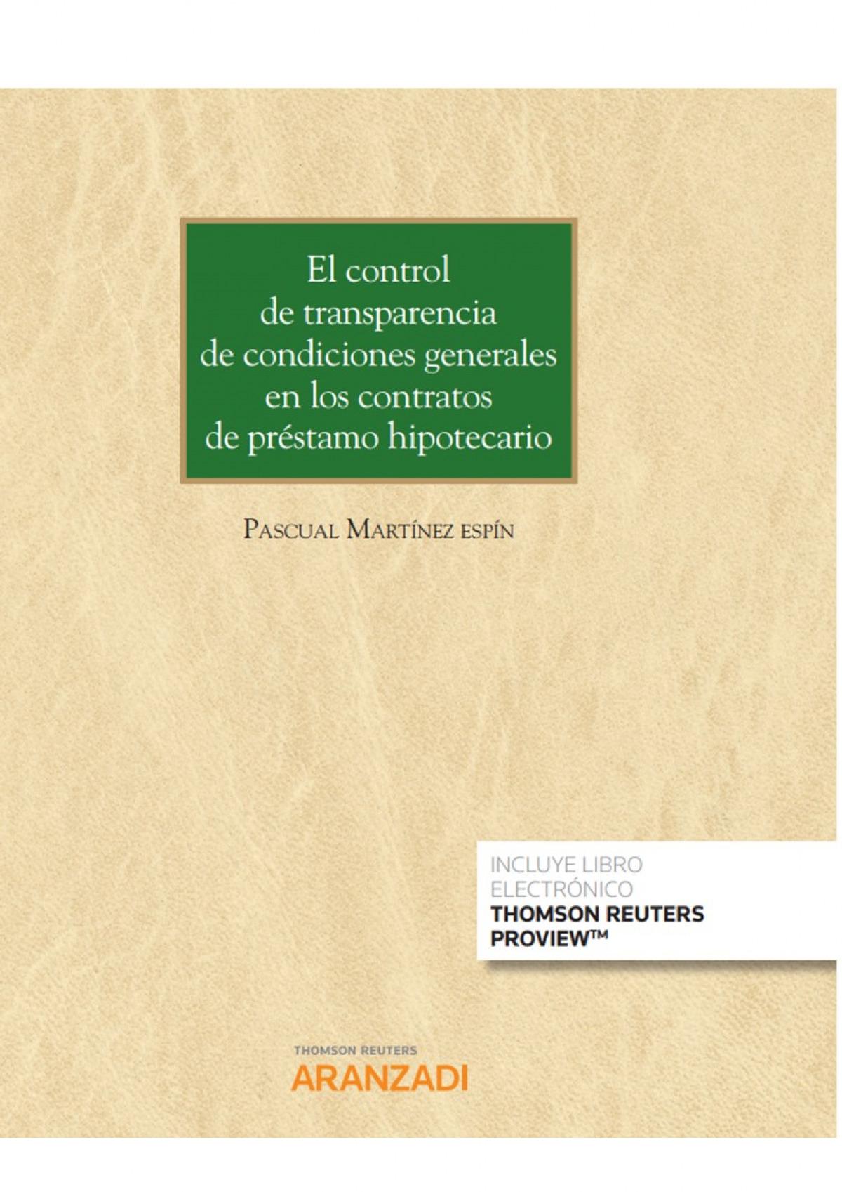 Control de transparencia de condiciones generales en los contrato