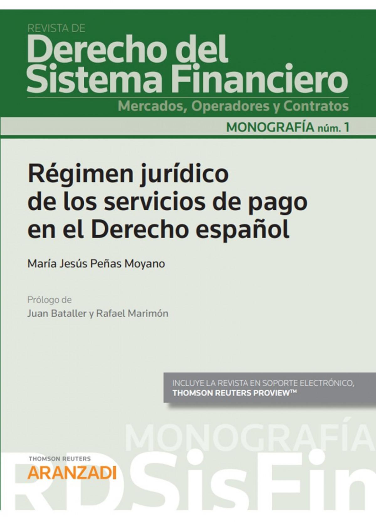 Régimen jurídico de los servicios de pago en el derecho español