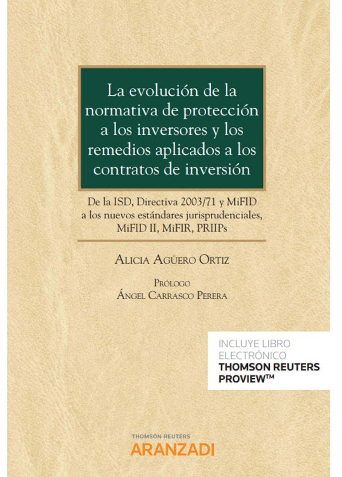 Evolución de la normativa de protección a los inversores y los remedios aplicado