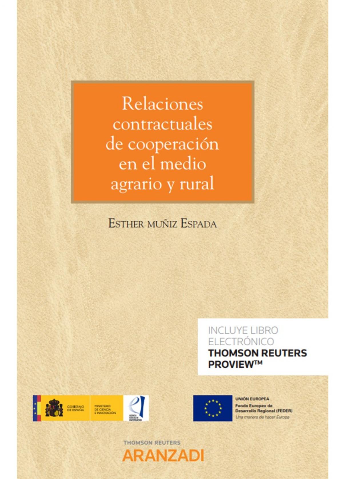 RELACIONES CONTRACTUALES DE COOPERACION EN MEDIO AGRARIO