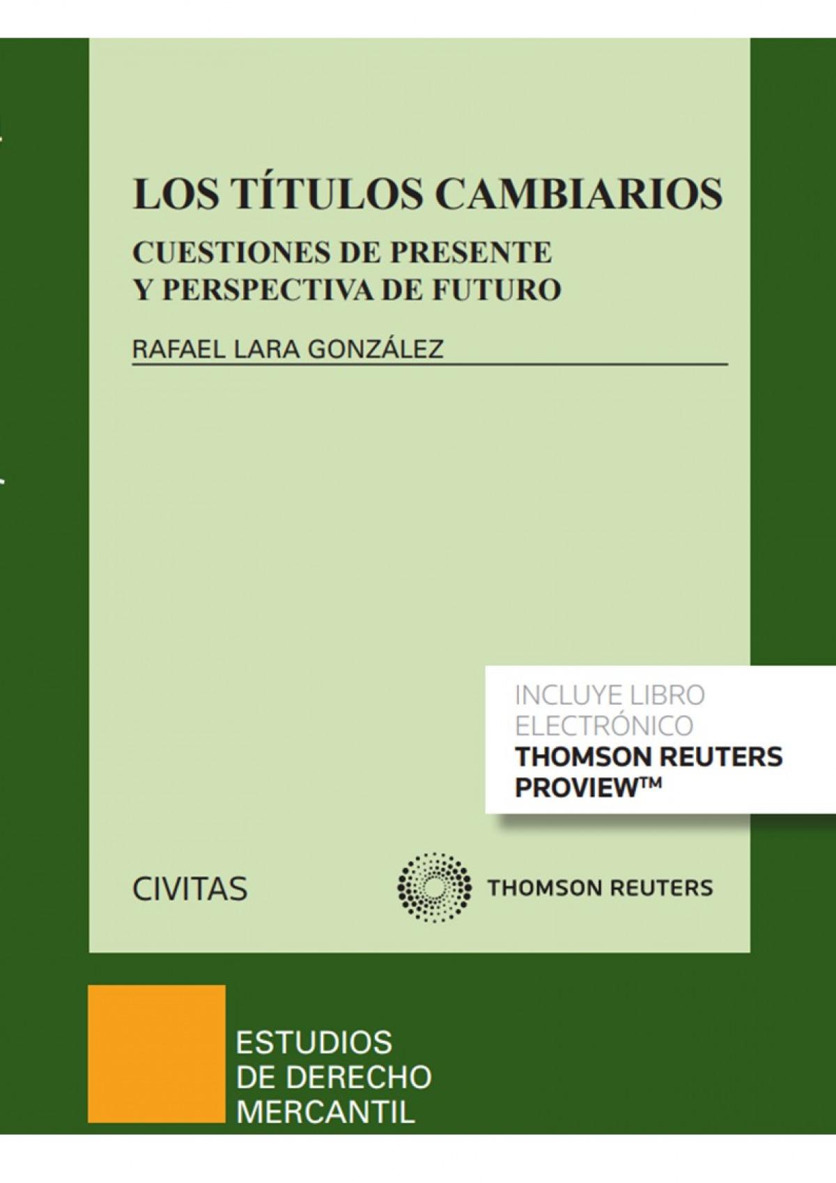 Los tátulos cambiarios (Papel + e-book)