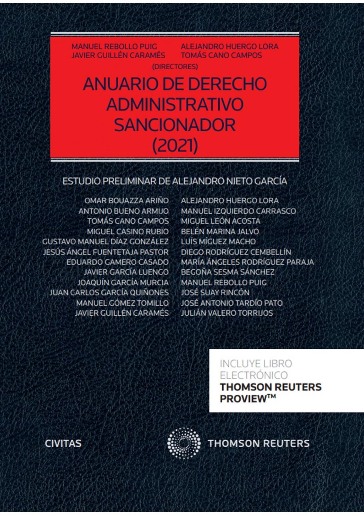 Anuario de Derecho Administrativo sancionador 2021 (Papel + e-book)