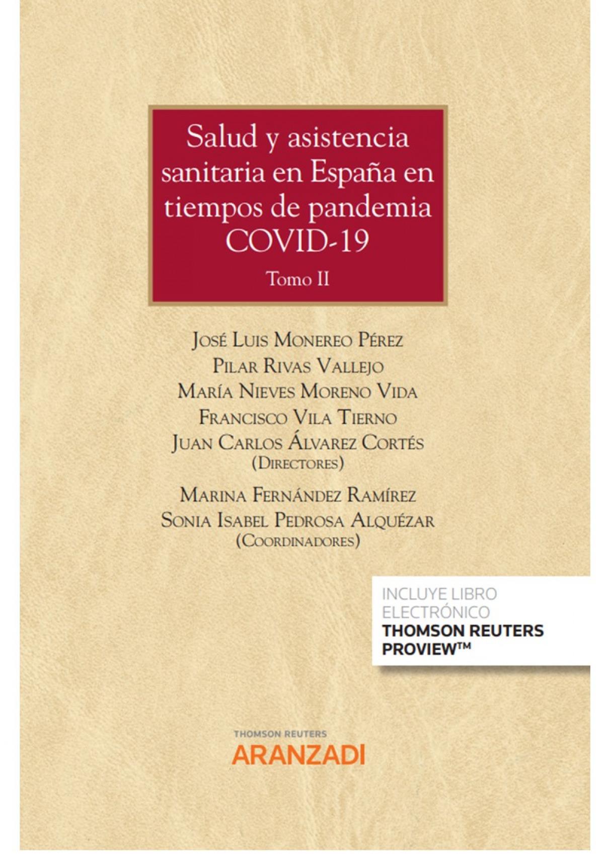 Salud y asistencia sanitaria en España en tiempos de pandemia covid-19 tomo I y